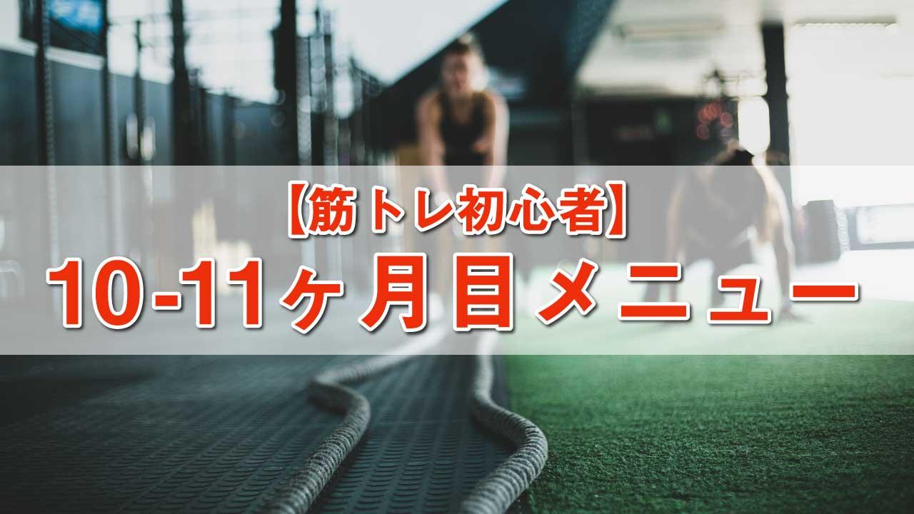 筋トレ初心者メニュー-10-11ヶ月目