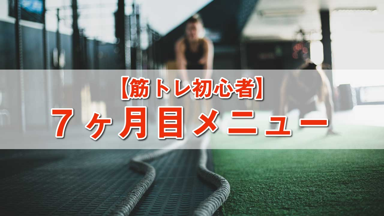 筋トレ初心者メニュー-7ヶ月目