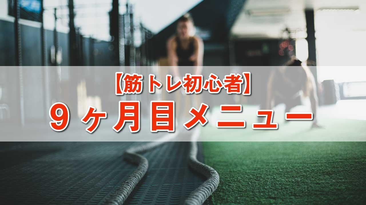 筋トレ初心者メニュー-9ヶ月目